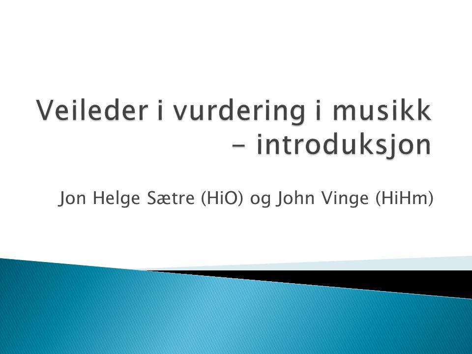 Jon Helge Sætre (HiO) og John Vinge (HiHm)