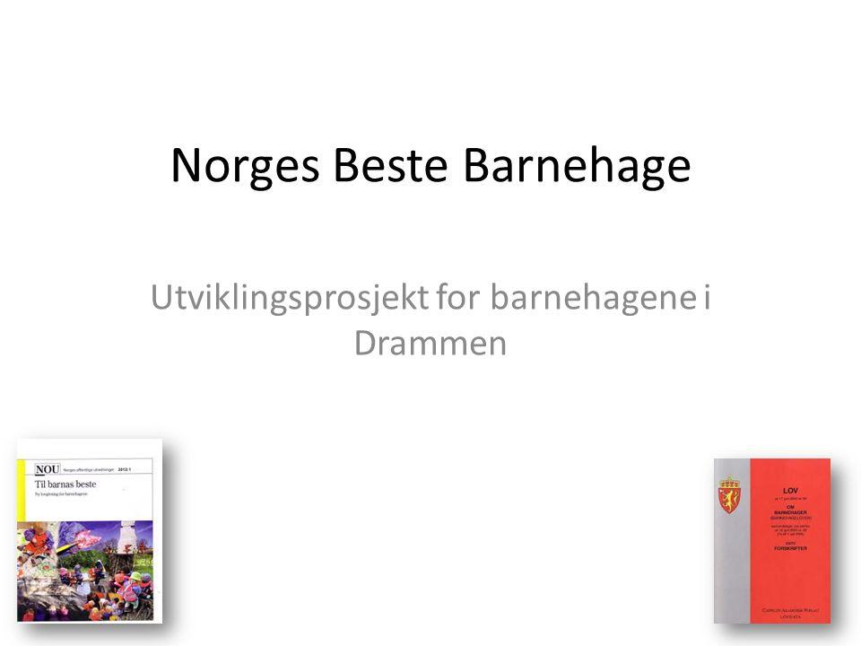 Norges Beste Barnehage Utviklingsprosjekt for barnehagene i Drammen