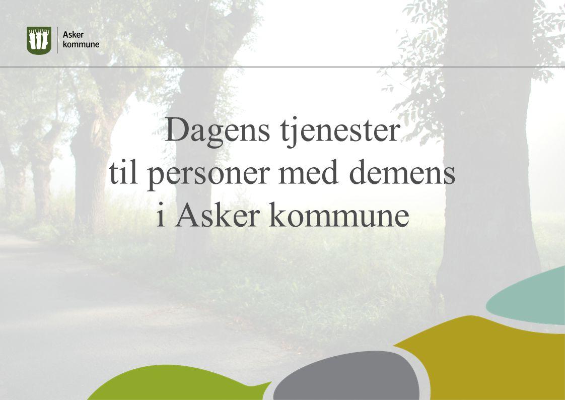 Dagens tjenester til personer med demens i Asker kommune