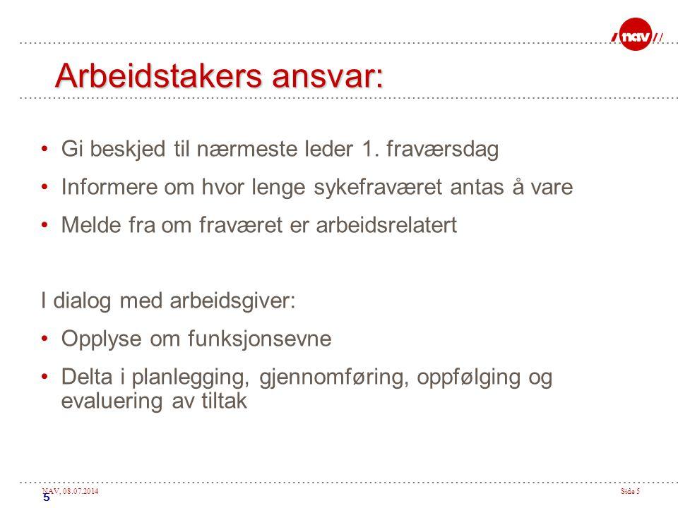 NAV, 08.07.2014Side 16 Invitere til oppfølgingssamtalen Invitasjon eller innkalling.