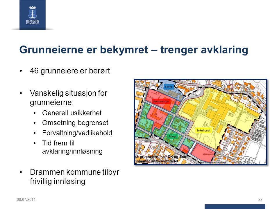 Grunneierne er bekymret – trenger avklaring 46 grunneiere er berørt Vanskelig situasjon for grunneierne: Generell usikkerhet Omsetning begrenset Forva