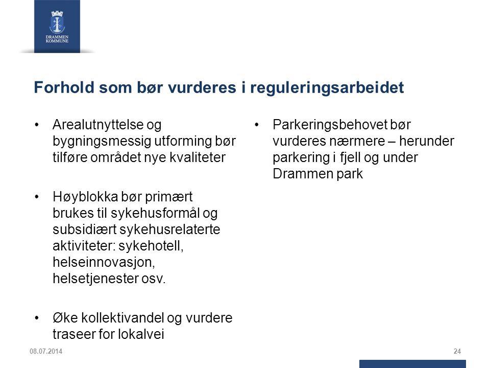 Forhold som bør vurderes i reguleringsarbeidet Arealutnyttelse og bygningsmessig utforming bør tilføre området nye kvaliteter Høyblokka bør primært br