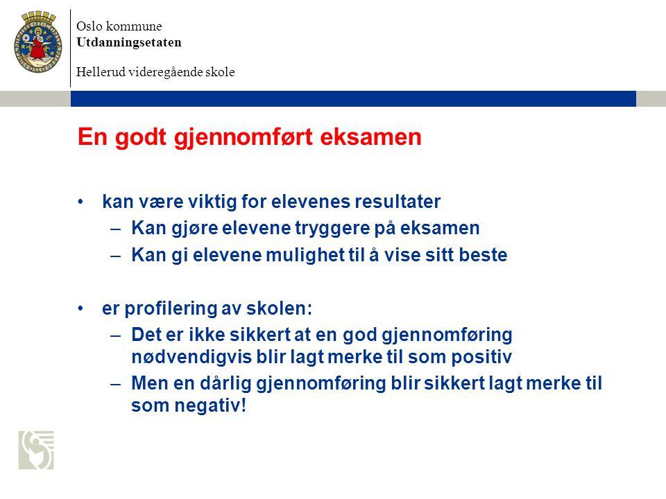Oslo kommune Utdanningsetaten Hellerud videregående skole Godt planlagt er halvt gjennomført.