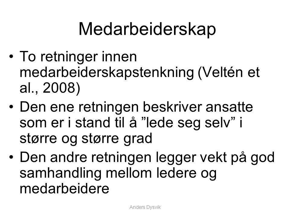 Anders Dysvik Hva skaper indre motivasjon.