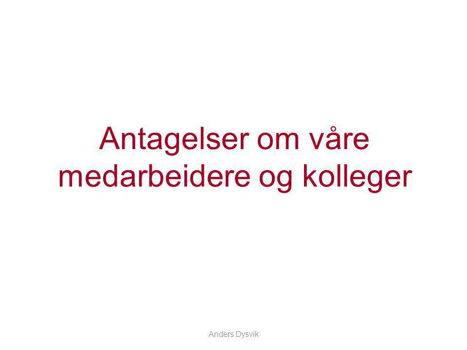 Anders Dysvik Hva kjennetegner flertallet av dine medarbeidere eller kolleger.
