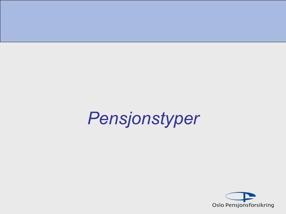 Pensjonstyper