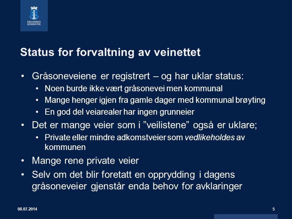 Status for forvaltning av veinettet Gråsoneveiene er registrert – og har uklar status: Noen burde ikke vært gråsonevei men kommunal Mange henger igjen
