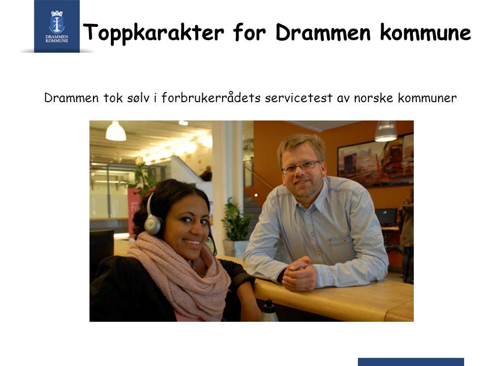 Toppkarakter for Drammen kommune Drammen tok sølv i forbrukerrådets servicetest av norske kommuner