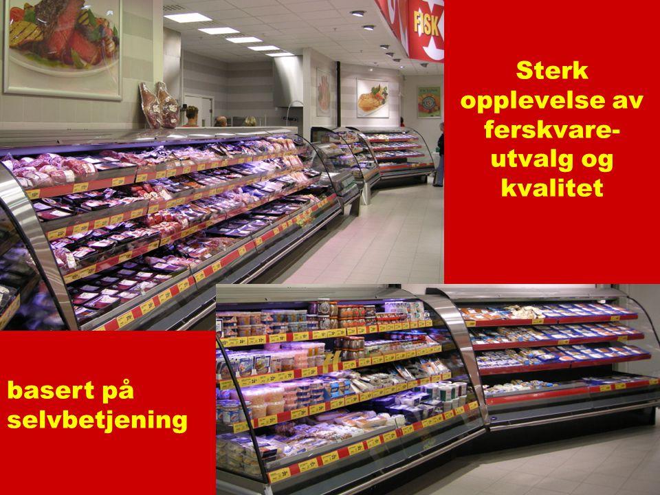 Sterk opplevelse av ferskvare- utvalg og kvalitet basert på selvbetjening