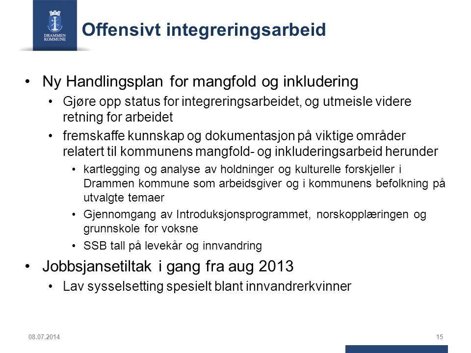 Offensivt integreringsarbeid Ny Handlingsplan for mangfold og inkludering Gjøre opp status for integreringsarbeidet, og utmeisle videre retning for ar