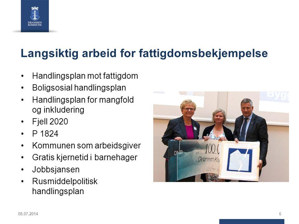 Områdesatsing på Fjell 8000 innbyggere i Austad/Fjell bydel Fjell drabantbyområde har 4000 innbyggere 50 % med innvandringsbakgrunn 75 % av foreldrene har innvandringsbakgrunn Laveste levekår i Drammen Fjell skole skårer 1,6 versus landssnittet på 2,0 på nasjonale prøver