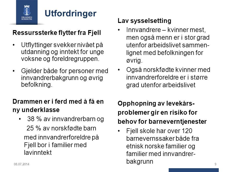 Målrettet innsats i NAV Drammen kommune og NAV Drammen målretter innsatsen, og iverksetter flere tiltak.