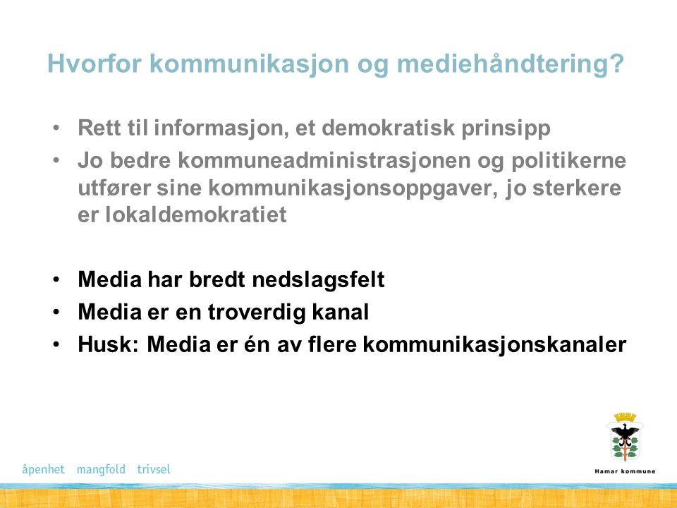Rett til informasjon, et demokratisk prinsipp Jo bedre kommuneadministrasjonen og politikerne utfører sine kommunikasjonsoppgaver, jo sterkere er loka