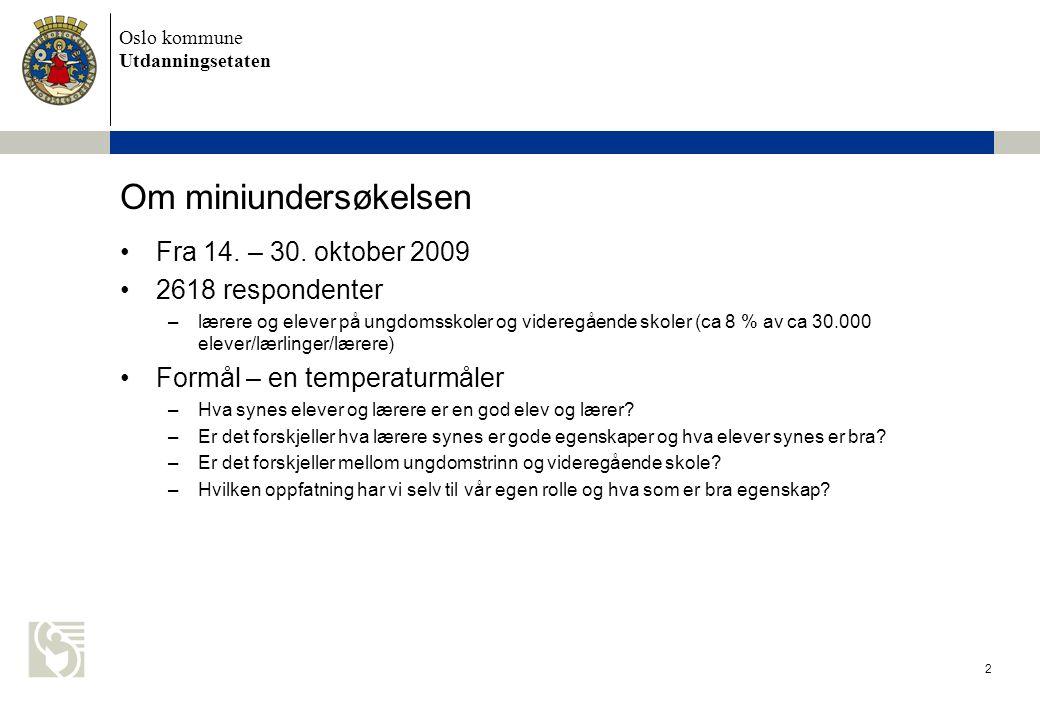 Oslo kommune Utdanningsetaten 3