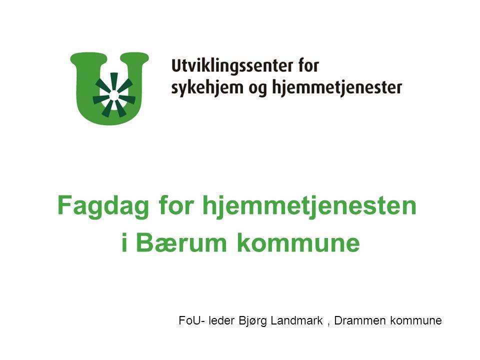 Fagdag for hjemmetjenesten i Bærum kommune FoU- leder Bjørg Landmark, Drammen kommune