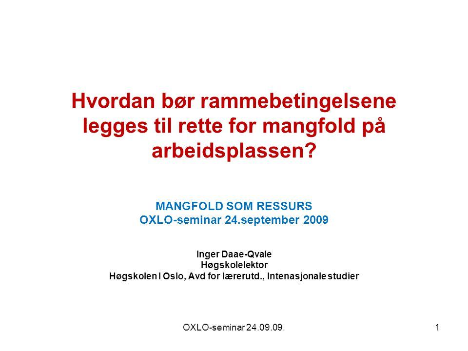 Daae-Qvale, 17.sept 200922 Flerkulturell aktør som grensekrysser – hvilke dilemmaer.