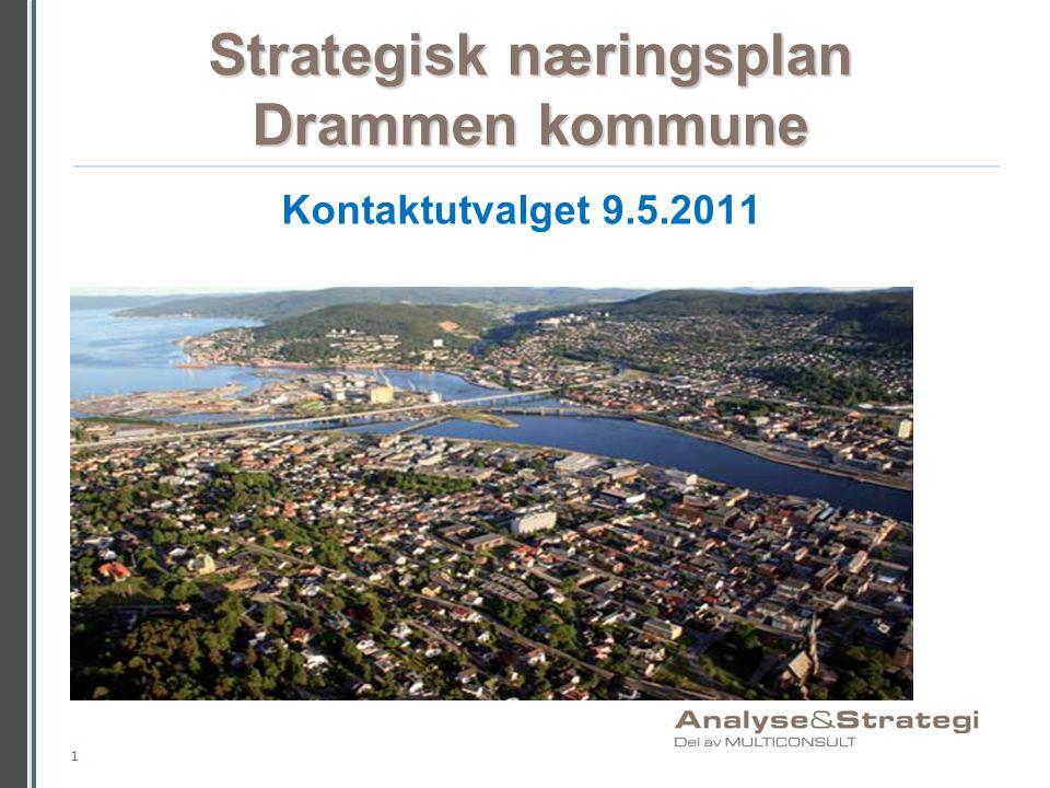 Strategisk næringsplan Drammen kommune 1 Kontaktutvalget 9.5.2011