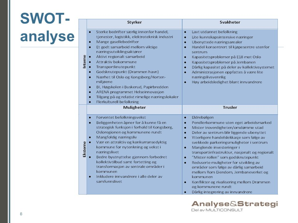 SWOT- analyse 8