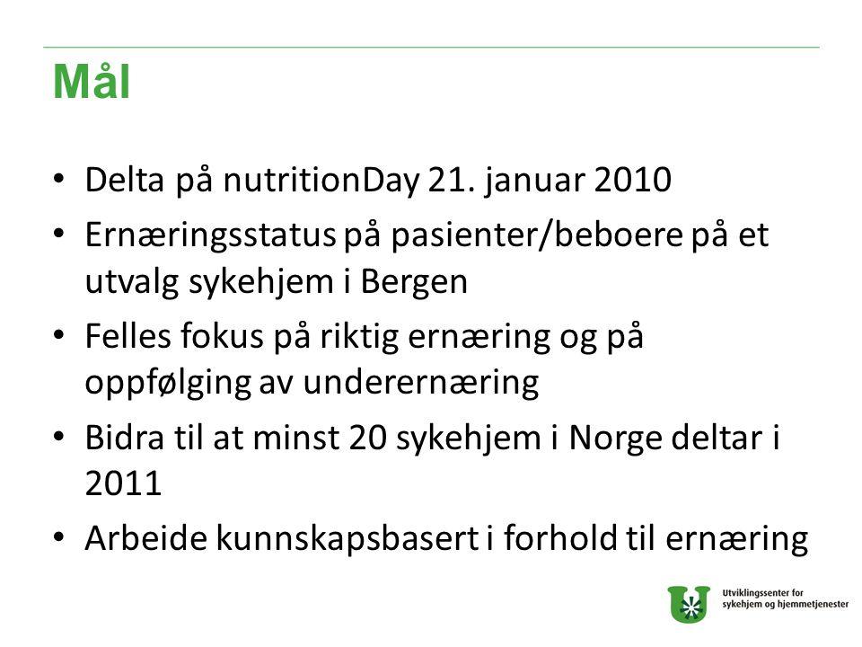 Mål Delta på nutritionDay 21.