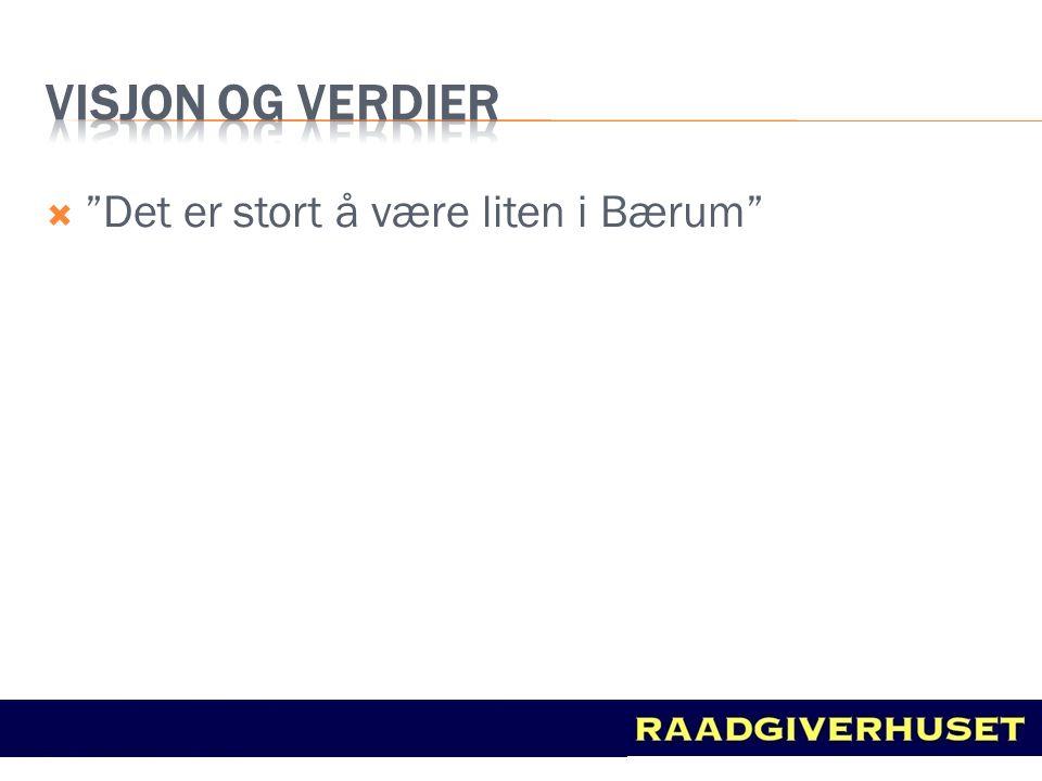 """ """"Det er stort å være liten i Bærum"""""""