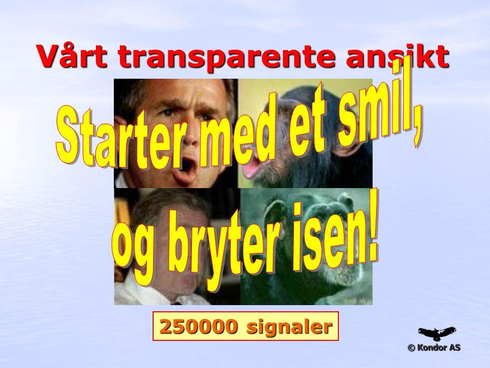 © Kondor AS Vårt transparente ansikt 250000 signaler