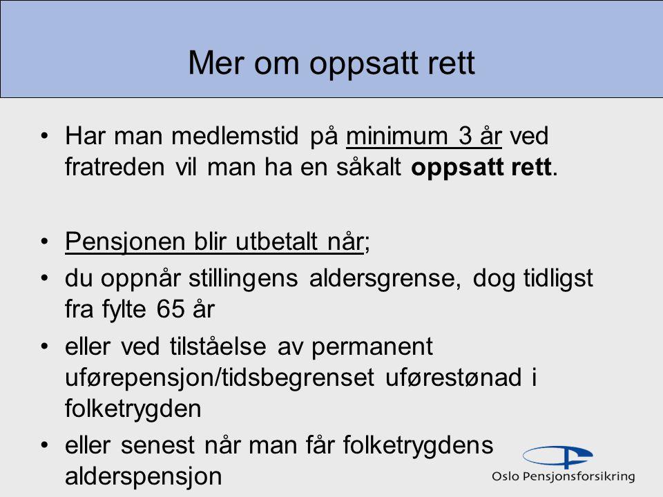 STØRRELSEN PÅ OPPSATT RETT I hht.