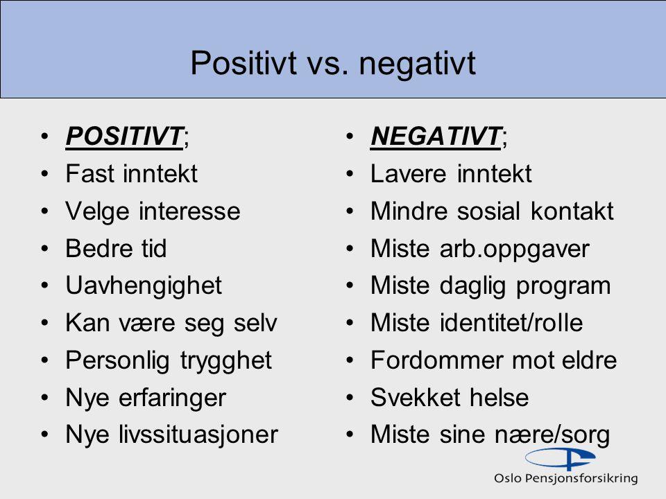 Positivt vs.
