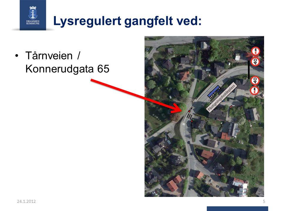 Bussholdeplassene som en del av trafikksikkerhetsprosjektet Totalløsningen av disse tiltakene er at det er innført 40 km sone og lysregulerte krysningspunkter for fotgjengere/skolebarn med kantstopp for buss.