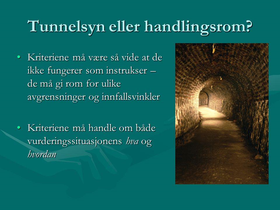 Tunnelsyn eller handlingsrom.