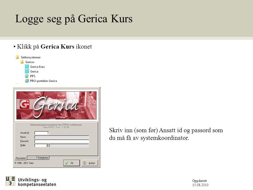 Oppdatert 15.08.2013 Sette – Standard skriver (Printer-Sikker) Når det gjelder utskrift på Gerica må standard printer være valgt.