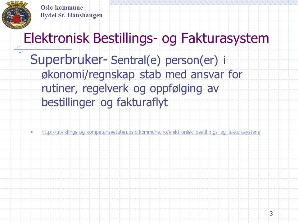 14 Kontroller faktura Oslo kommune Bydel St.