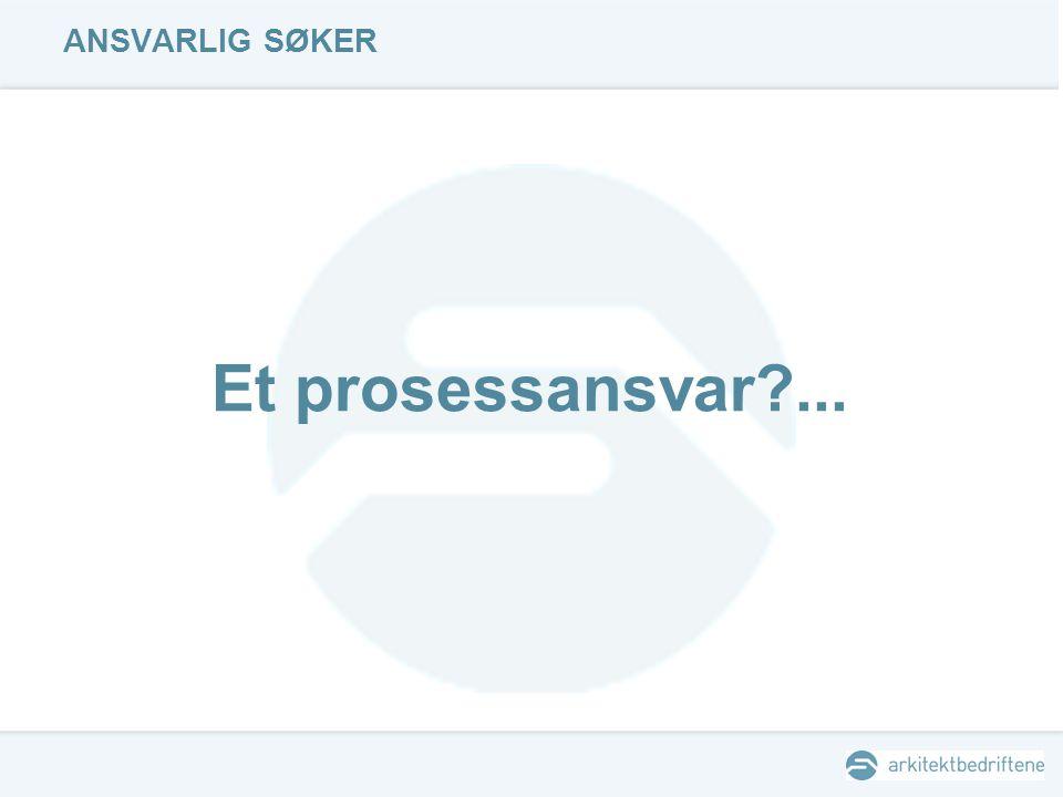 ANSVARLIG SØKER Et prosessansvar?...