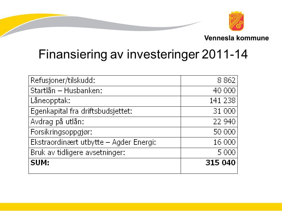 Finansiering av investeringer 2011-14