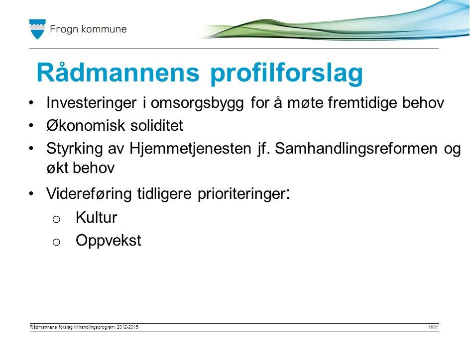 Rådmannens forslag til handlingsprogram 2012-2015HKH Jo Ragnar Finserås, jo-ragnar.finseras@frogn.kommune.no eller mobil 415 31 305 Dokumentet er tilgjengelig på våre hjemmesider om kommunen – plan og utvikling – handlingsprogram 2012 -2015 Spørsmål
