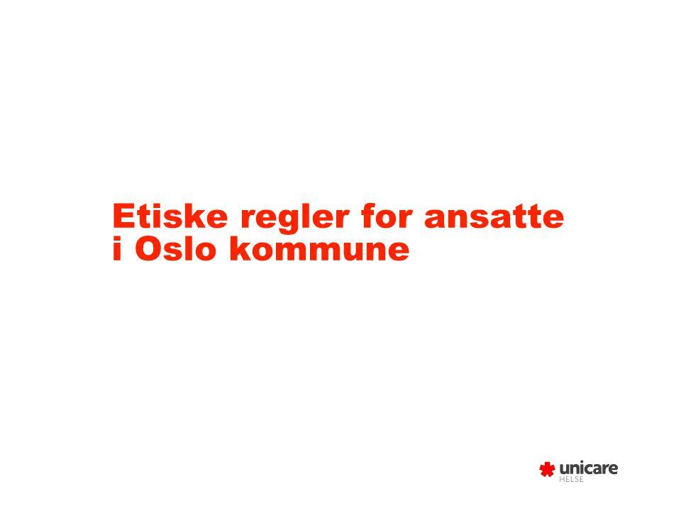 Etiske regler for ansatte i Oslo kommune