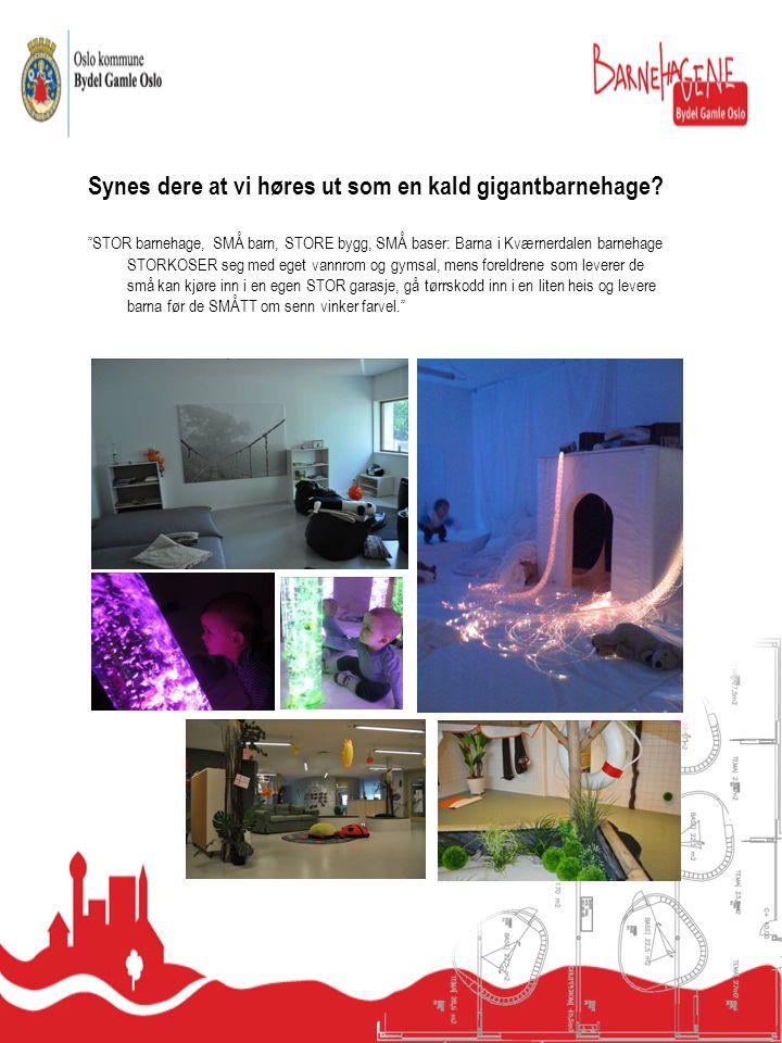 Kværnerdalen barnehage er et av Norges mest spennende barnehageprosjekter, med unik utforming og de mest moderne fasilitetene.