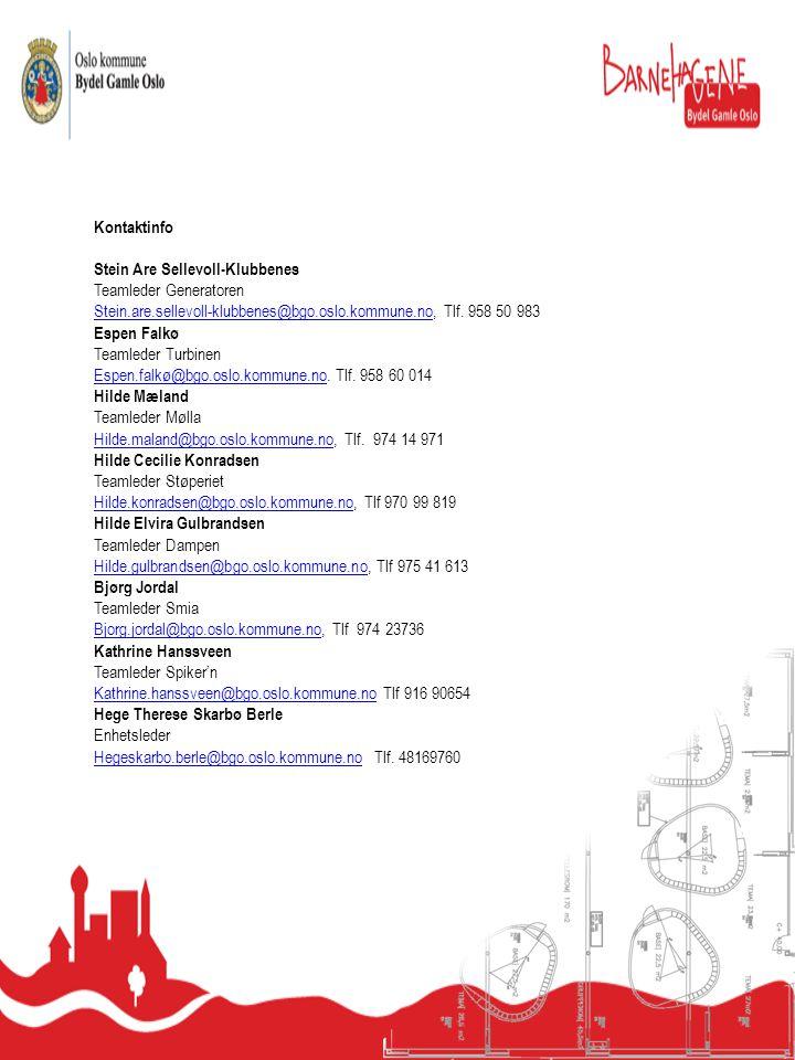 Kontaktinfo Stein Are Sellevoll-Klubbenes Teamleder Generatoren Stein.are.sellevoll-klubbenes@bgo.oslo.kommune.noStein.are.sellevoll-klubbenes@bgo.osl