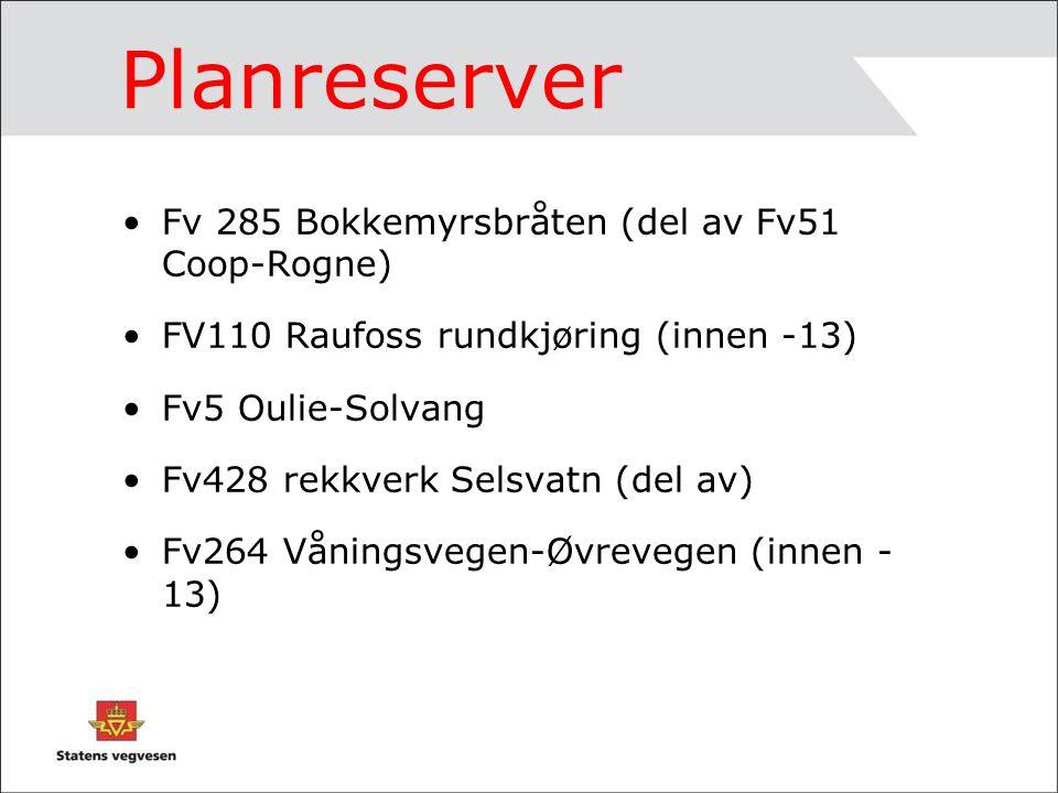 Planreserver - fortsettelse Fv436 del av Veggemsflåten-Amundgård.