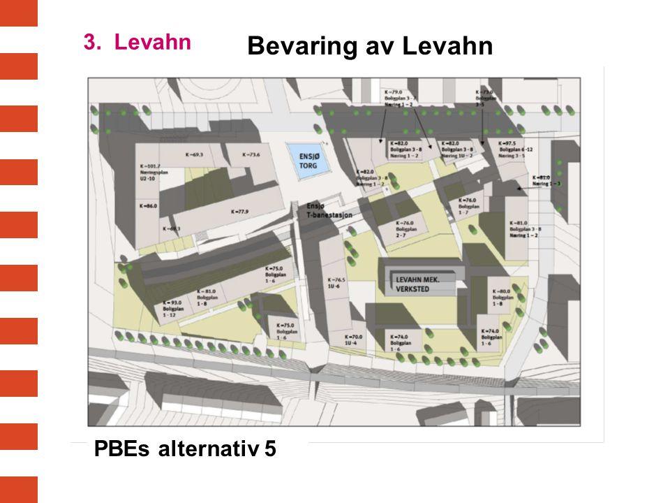 PBEs alternativ 5 Bevaring av Levahn 3. Levahn
