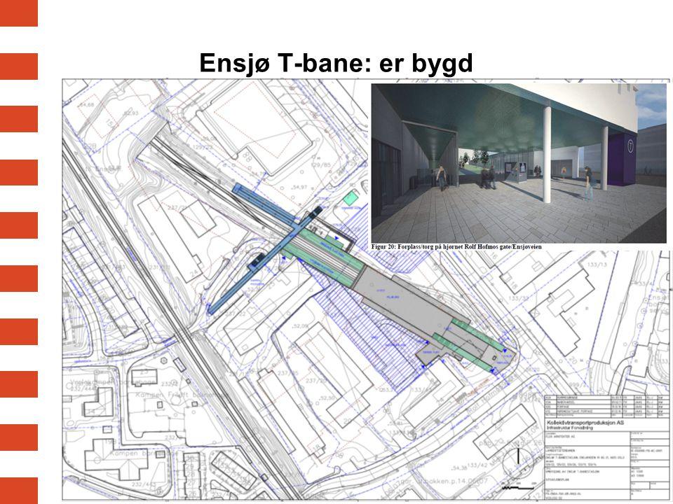 Ensjø T-bane: er bygd
