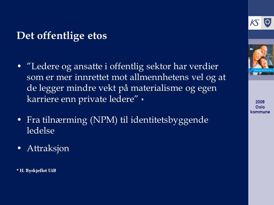 2008 Oslo kommune Hva frykter norske ledere mest.Tapt omdømme.
