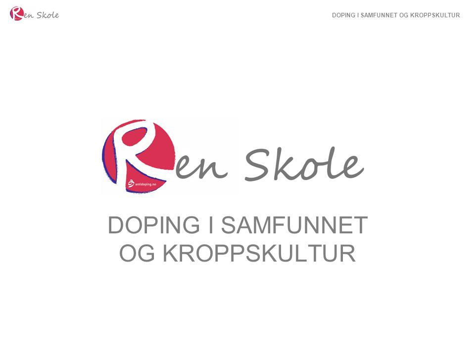 DOPING I SAMFUNNET OG KROPPSKULTUR Norsk omfangsundersøkelse 5332 personer ble spurt ved sesjon  2,9 % av guttene brukt doping  1 % av jentene brukt doping AAS-brukere hadde vesentlig høyere forbruk av narkotiske midler De med dopingerfaring kommer oftere opp i bråk Brukere av doping er oftere i kontakt med Barnevern- og PP-tjeneste 2009