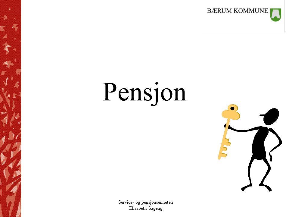 Service- og pensjonsenheten Elisabeth Sageng Rammebetingelser Krav til medlemskap: –For alle organisasjoner ny minstegrense 1 time.