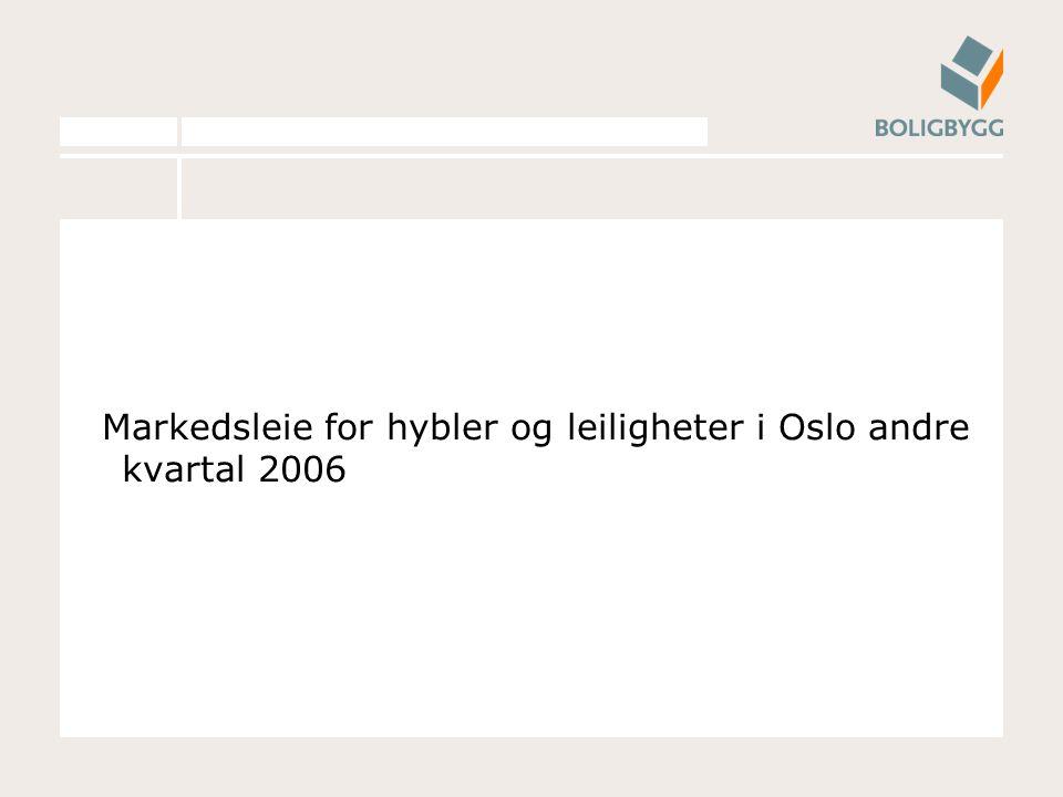 Markedsleie for hybler og leiligheter i Oslo andre kvartal 2006