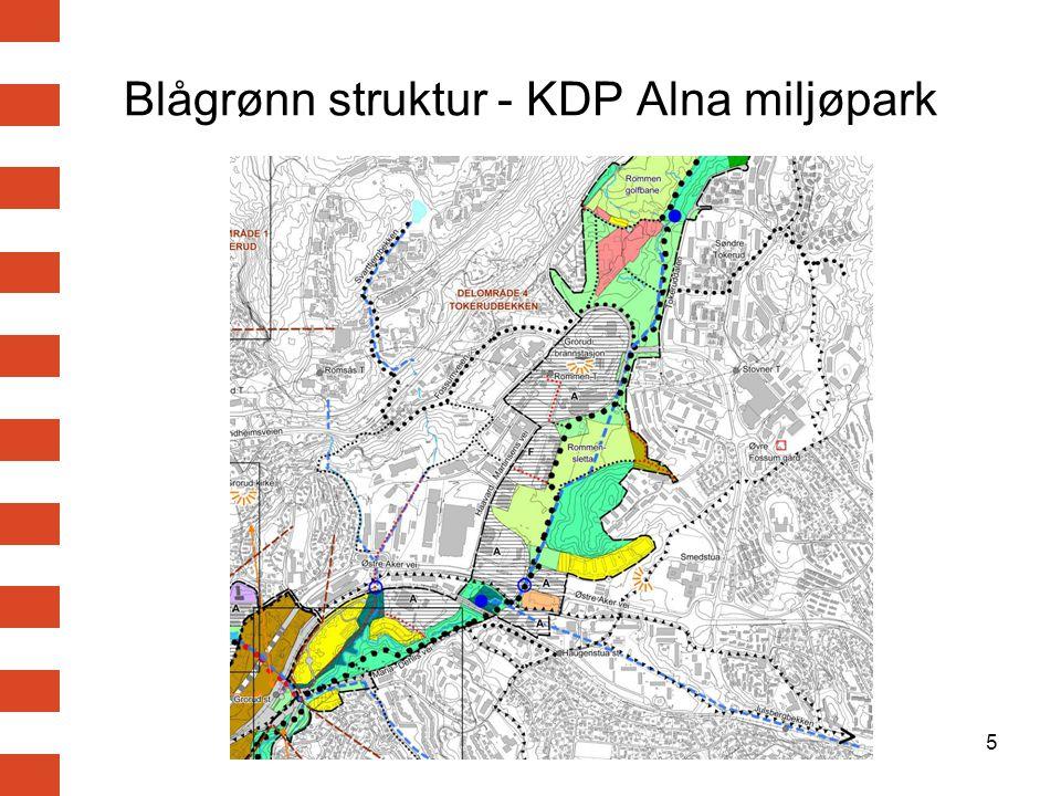 16 Fossumdiagonalen og lokalveisystemet Lokalvegsystem og kobling til overordnet vegsystem.