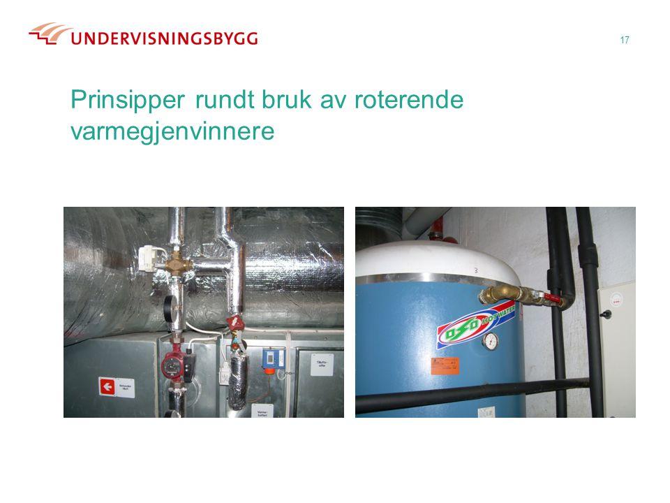 Prinsipper rundt bruk av roterende varmegjenvinnere 17
