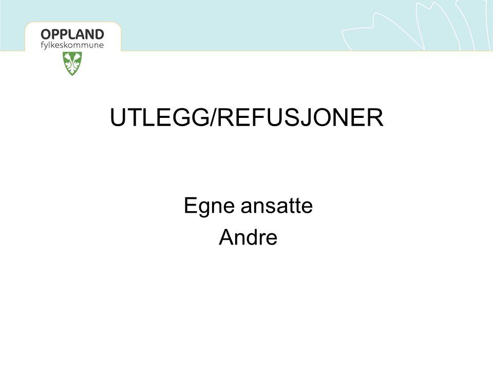 UTLEGG/REFUSJONER Egne ansatte Andre