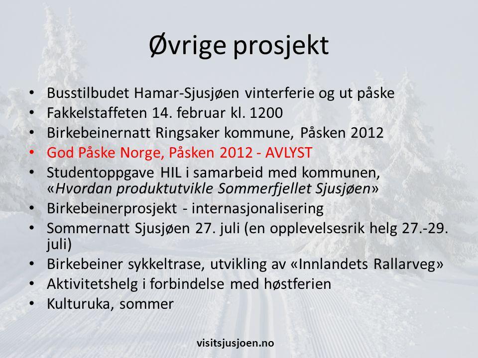 Øvrige prosjekt Busstilbudet Hamar-Sjusjøen vinterferie og ut påske Fakkelstaffeten 14.