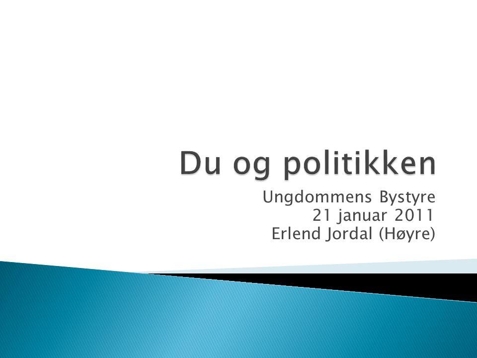Ungdommens Bystyre 21 januar 2011 Erlend Jordal (Høyre)