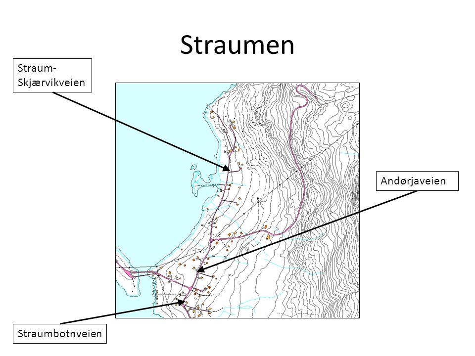 Straumen Straum- Skjærvikveien Andørjaveien Straumbotnveien